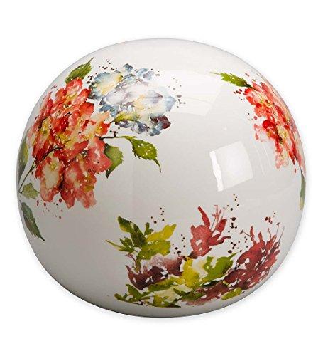 Watercolor Ceramic Garden Globe in Flowers
