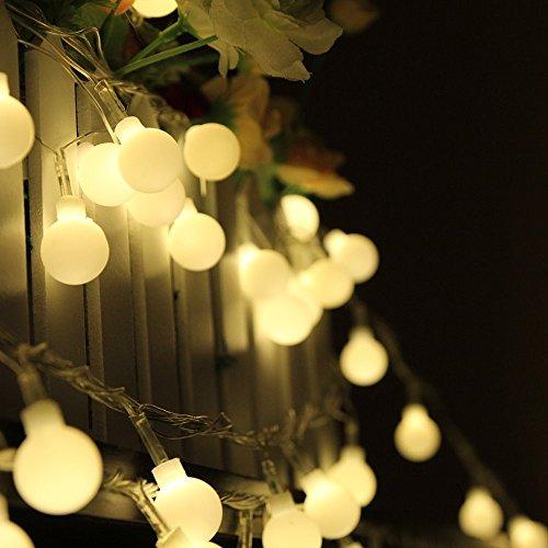 Warm White Christmas Ball String Lights - 10M 100 LED Globe Balls Fairy String Light Lamp Christmas Xmas Party Decor 110V
