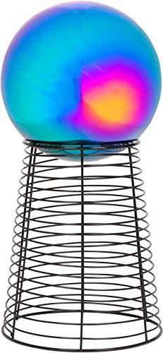12 Metal Gazing Ball Stand 8 Gazing Ball Rainbow by Trademark Innovations