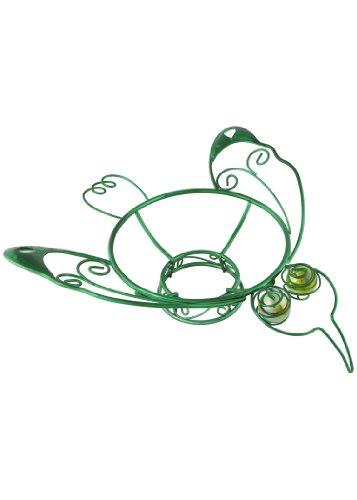 Russco Lll Gd126504 Green Plated Wiremetal Metal Gazing Ball Stand Hummingbird