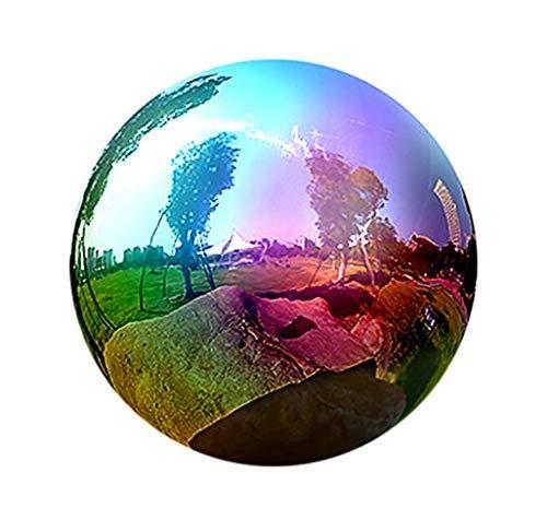 Gazing Globe - 6810Inch Rainbow Stainless Steel Shiny Gazing Balls for Gardens and Ponds 6 inch