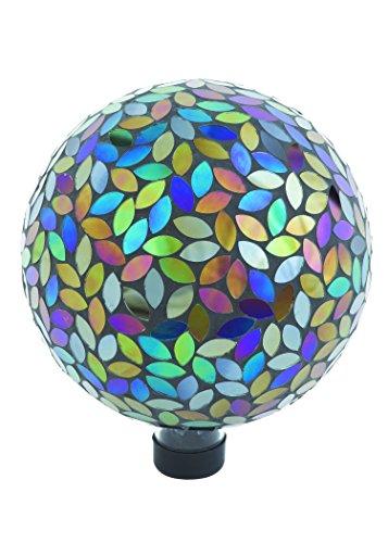 Russco Iii Gd137159 Glass Gazing Ball 10&quot Mosaic Peacock