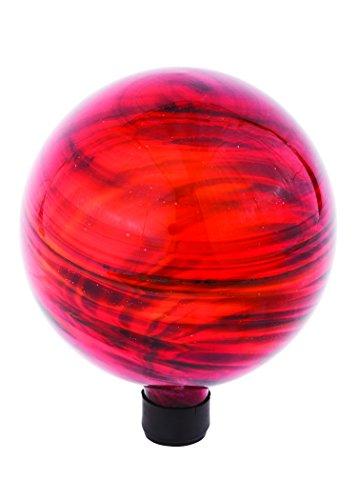 Russco Iii Gd137180 Glass Gazing Ball 10&quot Red Swirl