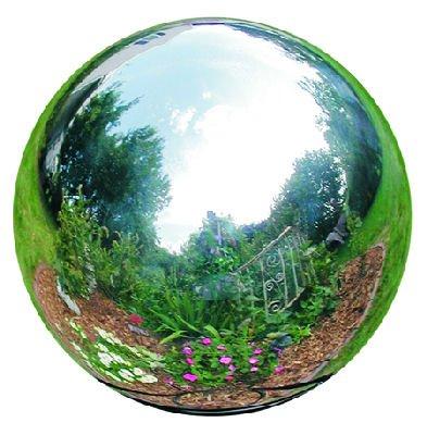 10 Inch Silver Stainless Steel Gazing Globe