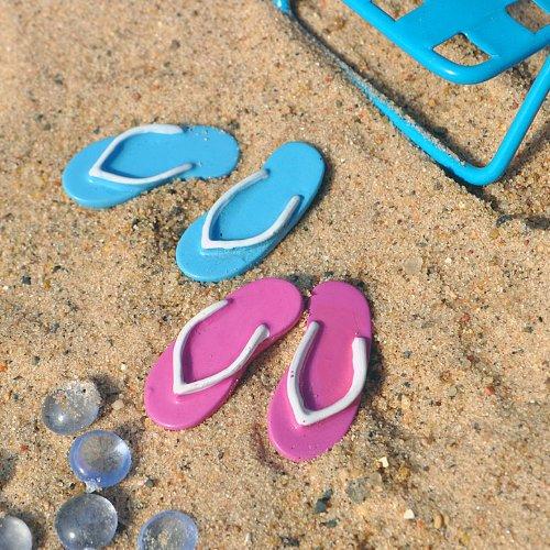 Miniature Fairy Garden Beach Flip Flops Set Of 2