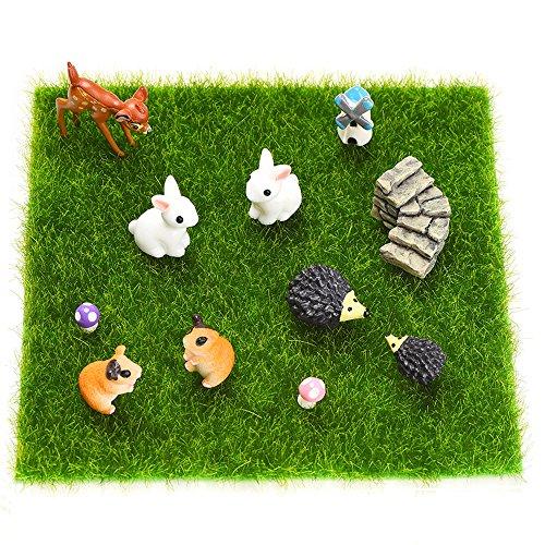 Outus 12 Pieces Miniature Ornaments For Diy Fairy Garden Dollhouse Decoration
