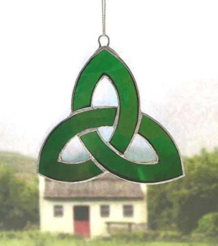 Irish Celtic Stained Glass Window Suncatcher (trinity Knot, Green)