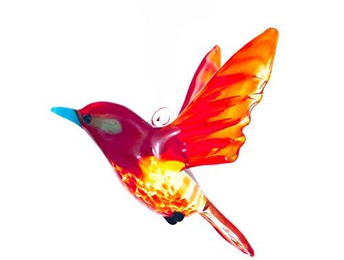Hanging Glass Red Songbird Suncatcher