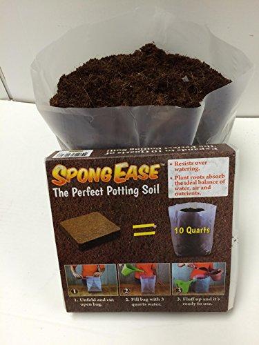 SpongEase Potting Soil - 10 Quart Pop up Bag - Pro Coco Coir Potting Soil for Plants Seed Starting Cuttings