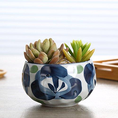 Netral 45 Inch Ceramic Sucuulent Plant PotCactus Plant Pot Flower Pot Ceramics Flower Pot for Home Office Desk Garden Decoration NO2