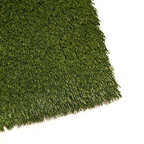 ALEKO 3x2 Feet 6 square feet IndoorOutdoor Artificial Garden Grass W Shape Monofil PE