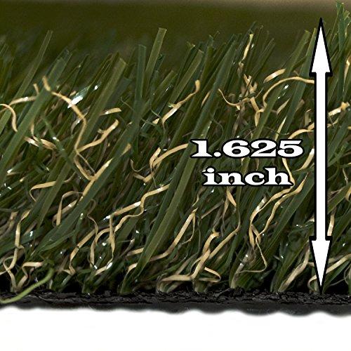 ALEKO AG2X3CS 6 Square Feet Roll 2X3 Feet of IndoorOutdoor Artificial Garden Grass C Shape Monofil PE