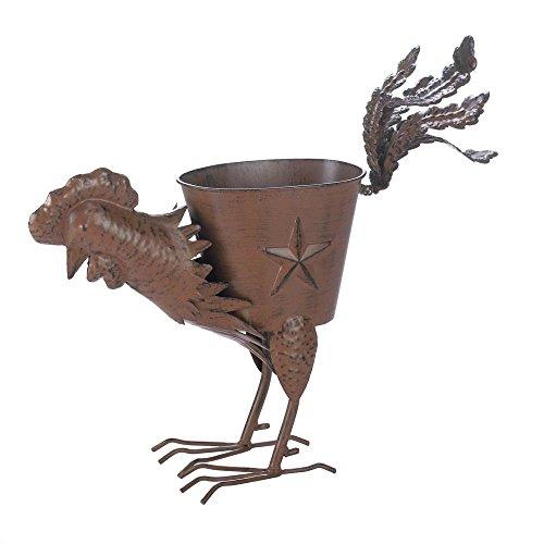 VERDUGO GIFT Strutting Rooster Iron Planter