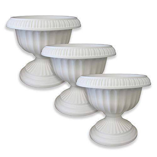 12 in x 105 in White Grecian Plastic Urn Planter 3-Pack