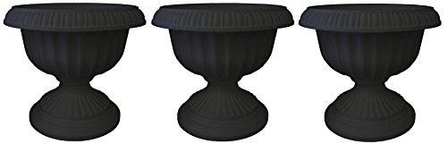 Bloem Grecian Urn Planter 18 Black Pack of 3