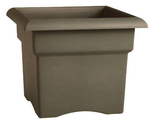 Fiskars 14 Inch Veranda 3 Gallon Box Planter Color Cement 57714