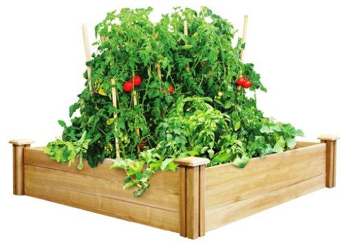 Greenes 4 Ft X 4 Ft X 105 In Cedar Raised Garden Bed