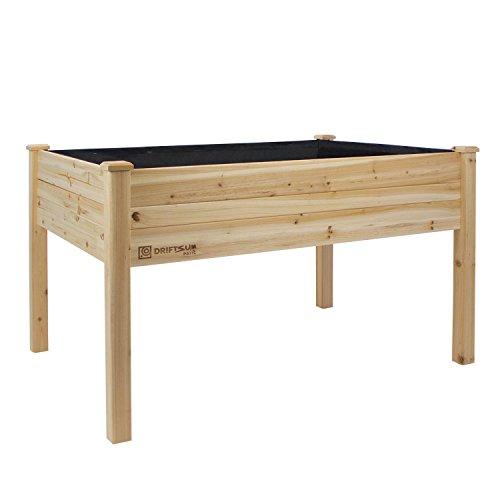 Driftsun Patio Raised Garden Bed Elevated Planter Box (48 X 34 X 32)