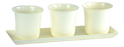 H Potter Set Of Three Mini Flower Garden Window Box Planter (white)