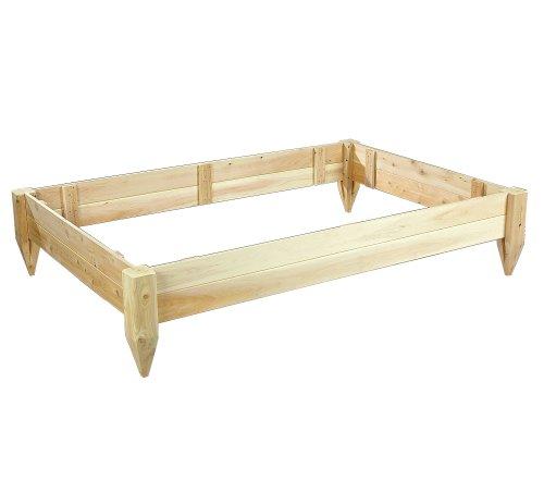 Cedarlooks 3114872 4 by 6-Feet Cedar Raised Bed Planter