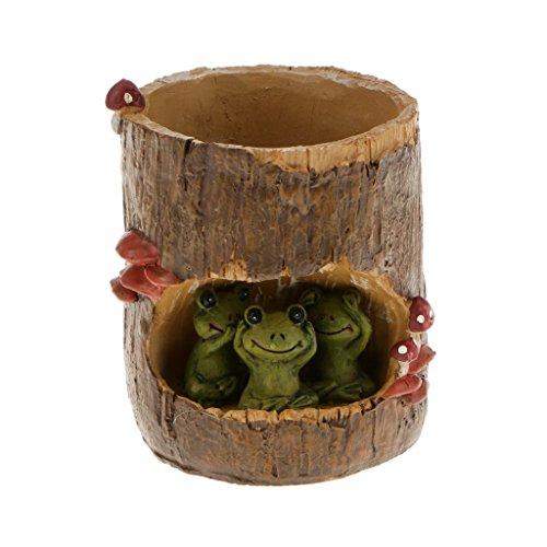 Home Yard Flower Succulent Bonsai Trough Box Green Frog Plant Bed DIY Pot