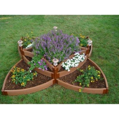 Frame It All Fbps9 One Inch Series Composite Versailles Sunburst Raised Garden Bed Kit 96&quot X 96&quot X 165&quot