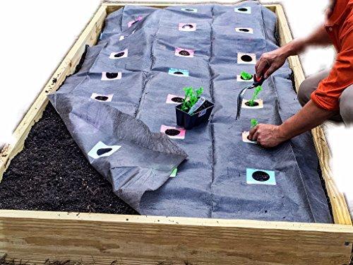 The Original Horta Garden Mat 4ftx8ft Roll Out Live Plant Vegetable Garden Mat Weedcloth For Raised Bed Garden