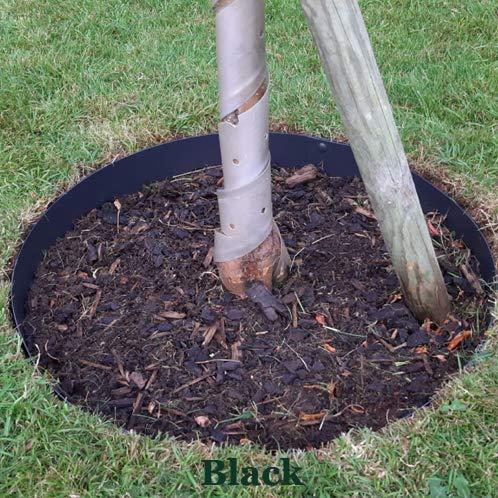 EverEdge 4 Foot Diameter 4 Piece Black Powder Coated Tree Rings