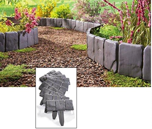 usa Warehouse Interlocking Faux Stone Border Edging 10 Piece Garden Borders Landscaping Look -pt Hf983-1754415293