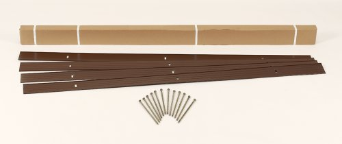 Easyflex 1806br-24c Aluminum Landscape Edging Project Kit Will Not Rust Like Steel Brown