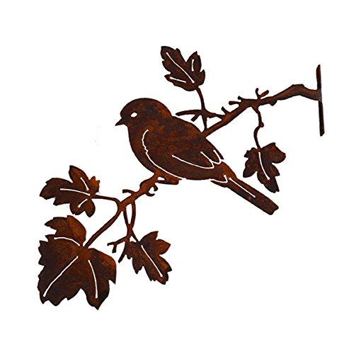 Elegant Garden Design Bluebird On Maple Branch Steel Silhouette With Rusty Patina