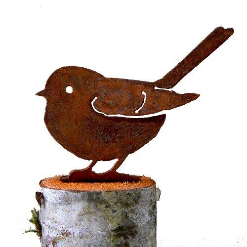 Elegant Garden Design Fat Chickadee Steel Silhouette With Rusty Patina