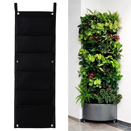 8430cm 6 Pockets Vertical Garden Planter Indoor Outdoor Wall Balcony Herbs  Vertical Garden Hanging Planter Bag