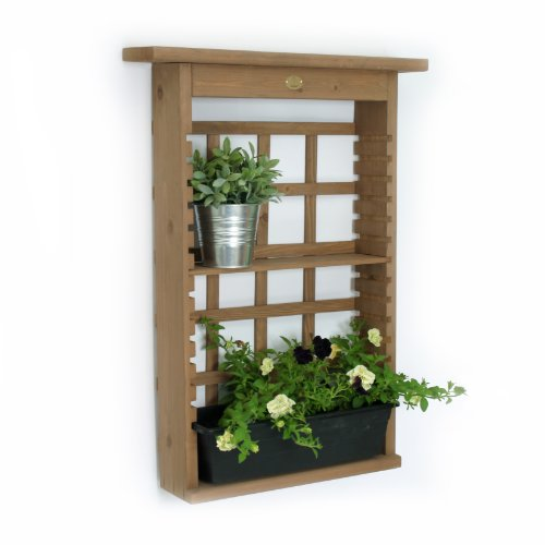 Algreen 34003 Garden View Vertical Living Wall Planter And Decorative Shelving Unit