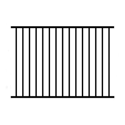 Allure Aluminum 4 ft H x 6 ft W Aluminum Black Unassembled Metropolitan 2-Rail Fence Panel