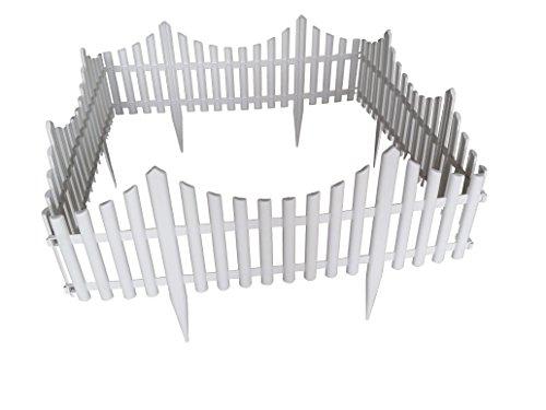 Mr Garden Pvc Picket Fence Landscape Fence Garden Borders 4pack In