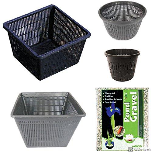 Large Pond Planting Basket Kit Includes 8 Large Sized Baskets and Pond Gravel