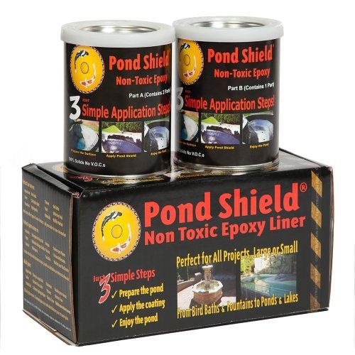 Pond Armor SKU-BLACK-QT-R Non Toxic Pond Shield Epoxy Paint 15-Quart Black
