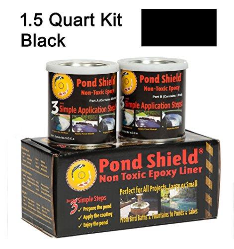 ship From Usa Black 30 Quart Kit Pond Armor Shield Non Toxic Epoxy Sealer Pond Liner Paint item Noe8fh4f854113439