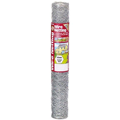 Gardman 6221 Galvanized Wire Netting 12 Hex Mesh 36 x 33
