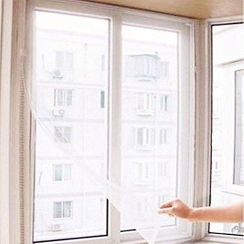 Ocamo Window Screen DIY Adjustable Stealth Easy Install Cleaning Mesh Screen Window Netting White