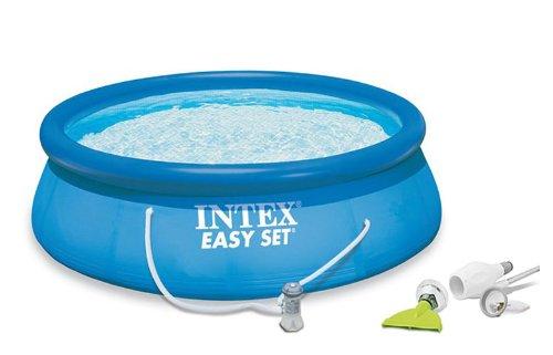 Intex 15 x 48 Easy Set Swimming Pool Kit w 1000 GPH Filter Pump Skooba Vac