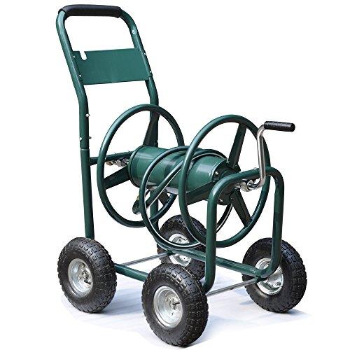 Yaheetech Water Hose Reel Cart 300 Ft Outdoor Garden Heavy Duty Yard Water Planting