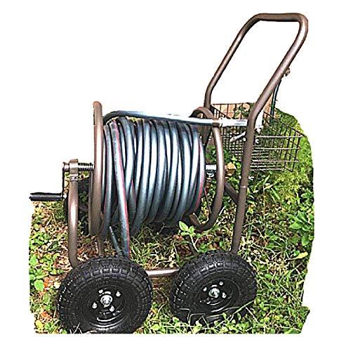 Heavy Duty Garden Hose 280 ft Metal Reel Cart 4 Wheels Resistant Steel Storage Water Caddy Basket Mobile ebook