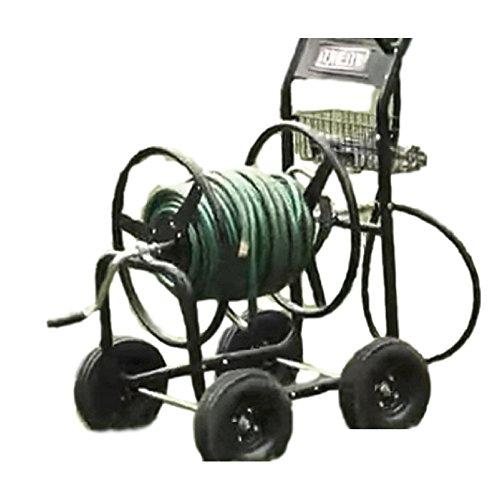 Metal Garden Hose Reel Cart 270 ft Heavy-Duty Rust Steel Resistant Rustic Outdoor Mobile ebook