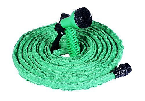 Garden Hose 50 Feet With 7 Functions Spray Nozzle Augymer Flexible Rubber Expanding Garden Water Hose Retractable