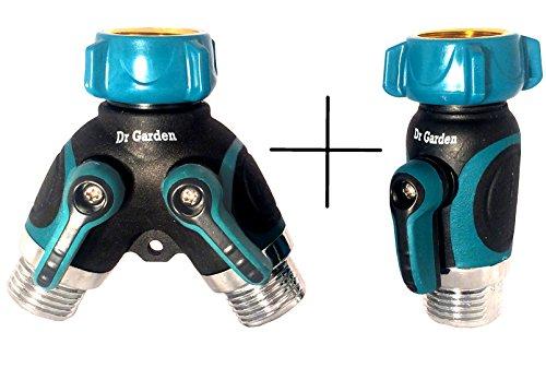 2 Way And 1 Way Garden Hose Splitter Kit | Water Spigot Splitter And Shut Off Valve - 365 Day Guarantee