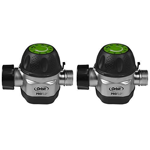 Orbit High Flow Metal Mechanical Garden Faucet Watering Hose Timer 2 Pack
