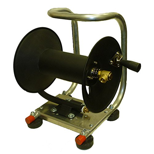 US StockYouzee Pressure Washer Hose Reel with Cart - Holds 100 - 38