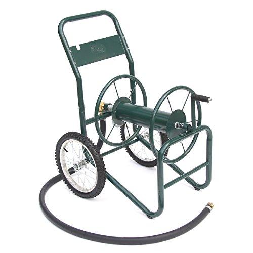 Liberty Garden Products 1180-2 Industrial 150-Foot Capacity Two Wheel Garden Hose Reel Cart Green